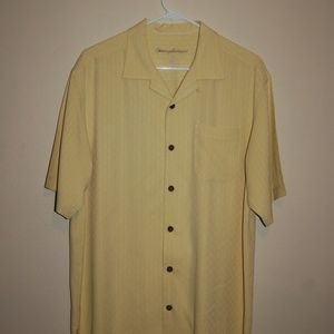 Tommy Bahama 100% Silk Button Down Camp Shirt
